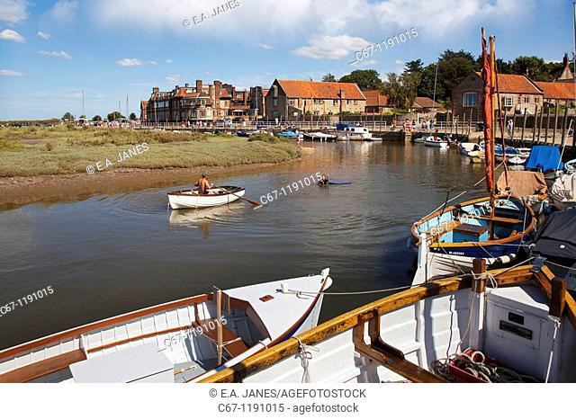 Blakeney Harbour North Norfolk UK July
