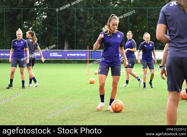 Anderlecht new player Tessa Wullaert pictured during a training session of RSC Anderlecht Women, Tuesday 28 July 2020 in Brussels