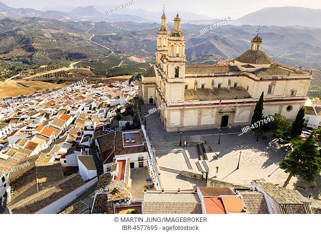 Church of La Encarnación, white village, Olvera, province of Cadiz, Andalusia, Spain