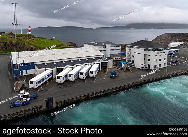 Skansin harbour and lighthouse, historic fortification, Tórshavn, Streymoy Island, Faroe Islands, Denmark, Europe