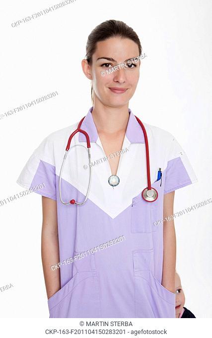 health care, nurse, nursing sister, woman, stethoscope CTK Photo/Martin Sterba, Josef Horazny MODEL RELEASED, MR