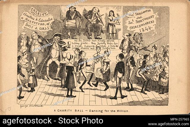 Dance caricatures Additional title: Longitude & latitude of St. Petersburgh Additional title: Cyprian's ball at the Argyle Rooms Additional title: Full-dress...