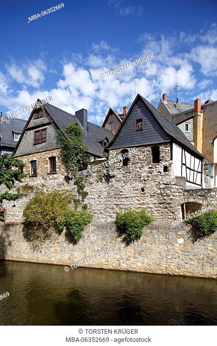 Historical half-timbered houses in the Mühlgraben, Wetzlarer Old Town, Wetzlar, Hessen, Germany, Europe