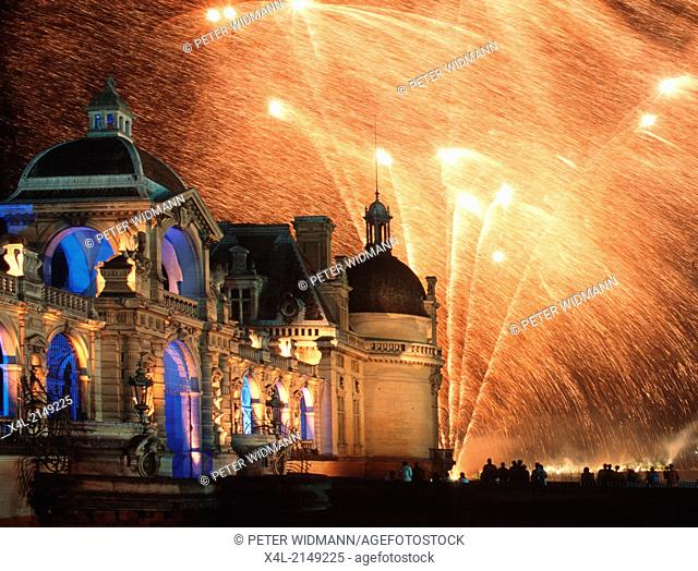 fireworks, Chantilly, France