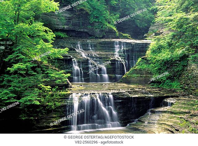 Falls on Buttermilk Creek, Buttermilk Falls State Park, New York