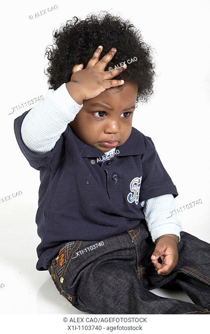 African-American baby boy