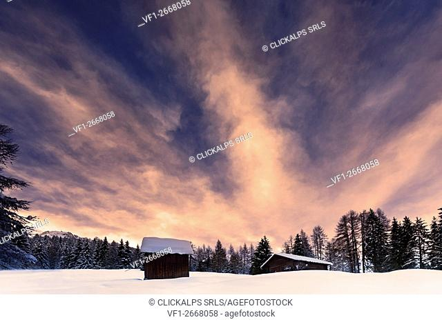 Europe,Dolomites,Italy,Trentino,Fassa valley