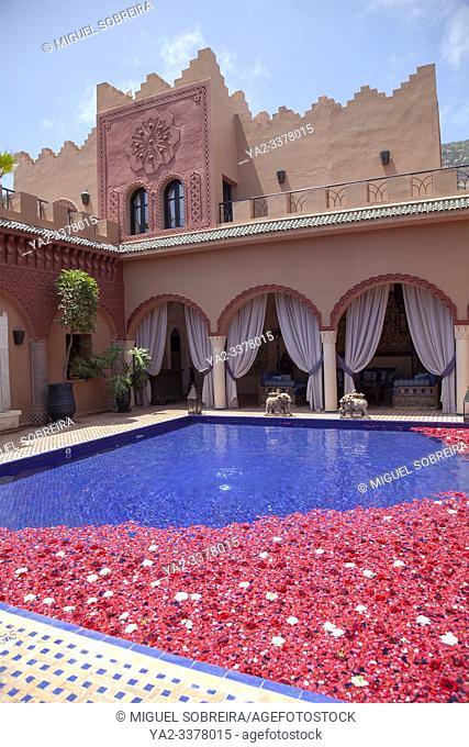 Kasbah Tamadot Retreat Interior in Atlas Mountains near Marrakech, Morocco