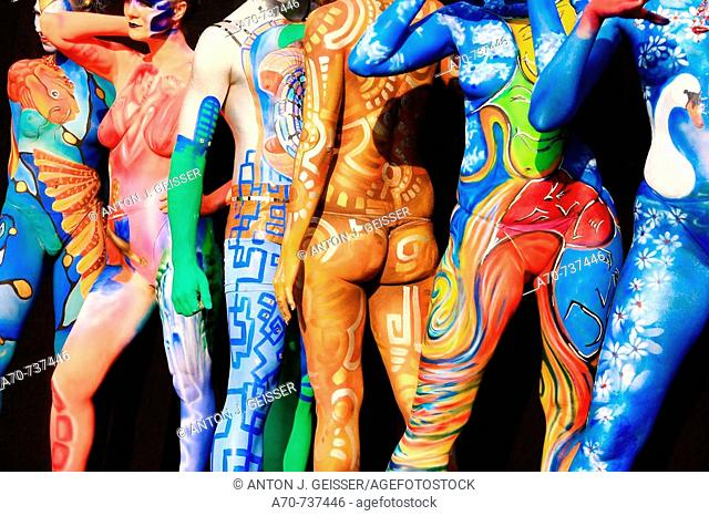 Bodypainting contest. Möriken, Aargau, Switzerland