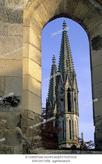 Saint-Martin Church, Laon, Aisne department, Picardy region, northern France, Europe