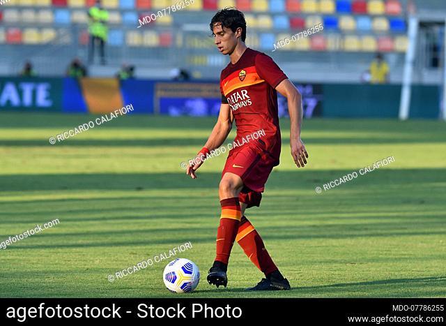 Roma football player Riccardo Calafiori during match Frosinone-Roma in the Benito Stirpe stadium. Frosinone (Italy), September 09th, 2020