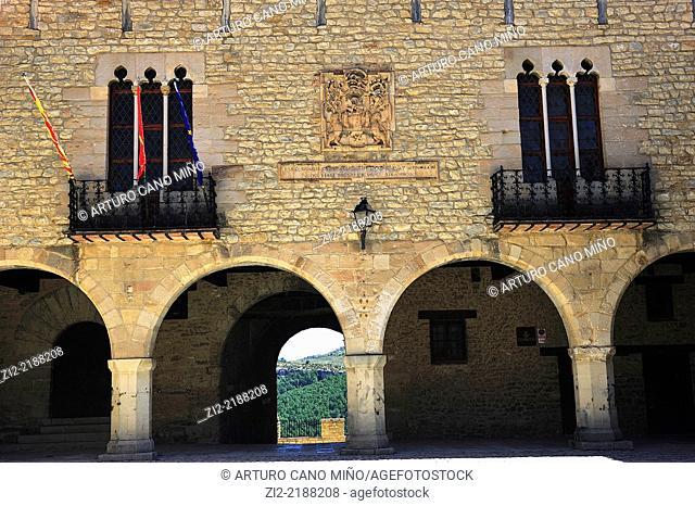 Town Hall, XVIth century. Cantavieja, Teruel, Spain