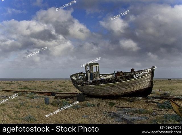 Broken down old fishing boat