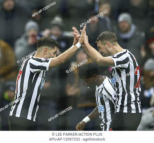 2019 EPL Premier League Football Newcastle United v Cardiff City Jan 19th. 19th January 2019, St James Park, Newcastle upon Tyne
