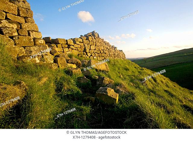 Hadrian's Wall at Steel Rigg, Northumberland, England
