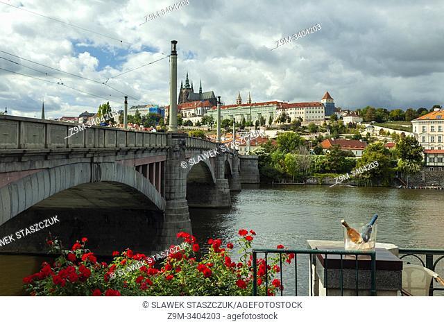 Manes Bridge across Vltava river in Prague