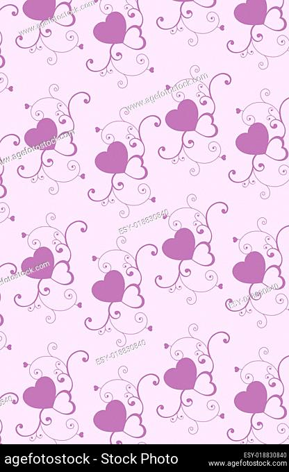 purple heart pattern