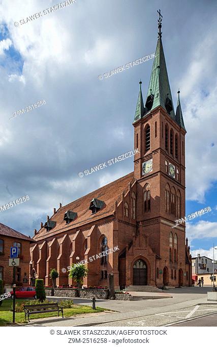 Parish church in Koscierzyna, pomorskie, Poland