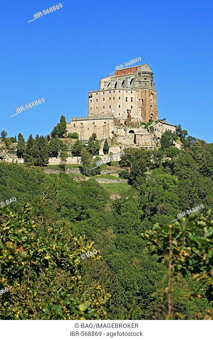Sacra di San Michele at the Valle Susa, piedmont, Italy