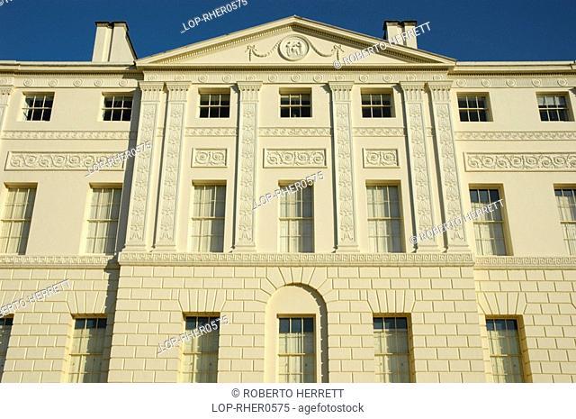 England, London, Hampstead, Detail on the front of Kenwood House on Hampstead Heath