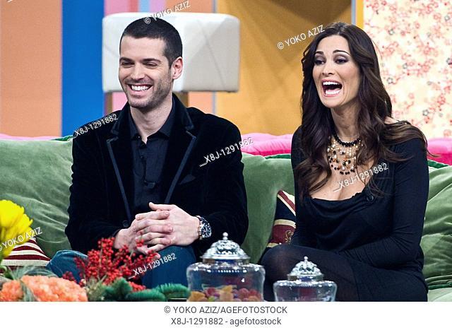 Sergio and Manuela Arcuri, Telecast 'Kalispera', Canale 5, Milan, Italy, 2010