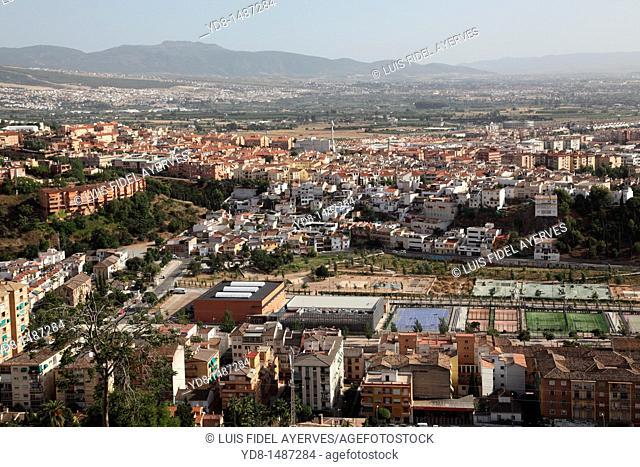 Panoramic view of Granada, Andalusia, Spain