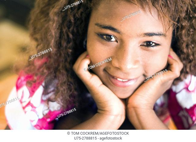Young African woman portrait