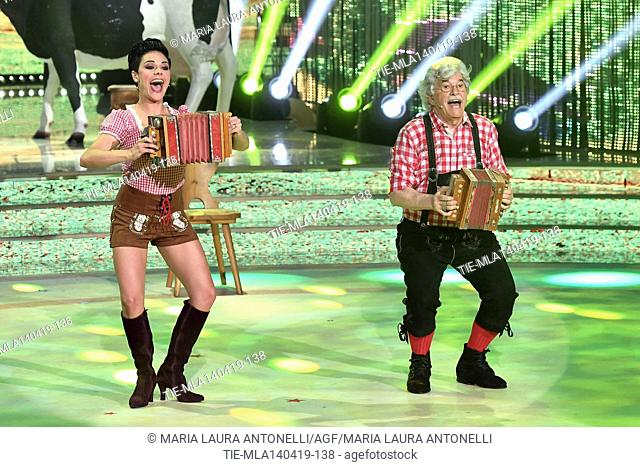 Antonio Razzi during the performance at the talent show ' Ballando con le stelle ' (Dancing with the stars) Rome, ITALY-14-04-2019
