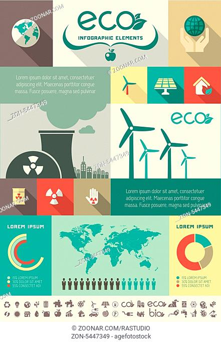 Flat Infographic Elements. Vector Illustration EPS 10
