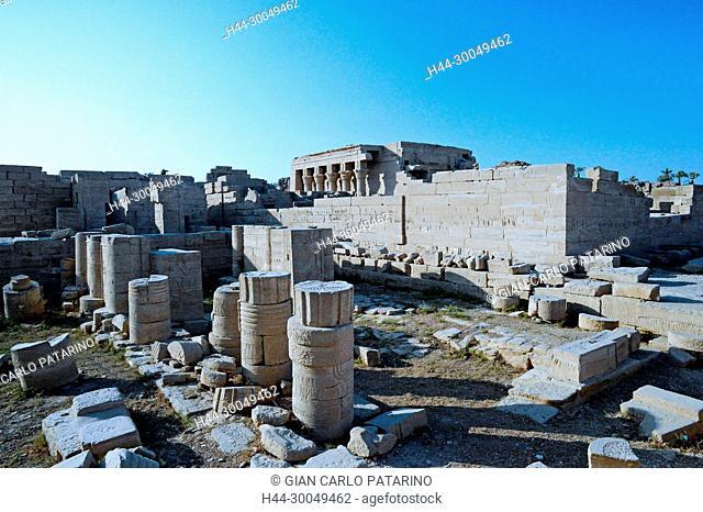 Dendera Egypt, ptolemaic temple dedicated to the goddess Hathor.The sanatorium