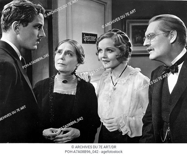 L'homme que j'ai tué Broken Lullaby  Year: 1932 USA Phillips Holmes , Nancy Carroll , Lionel Barrymore , Louise Carter  Director: Ernst Lubitsch