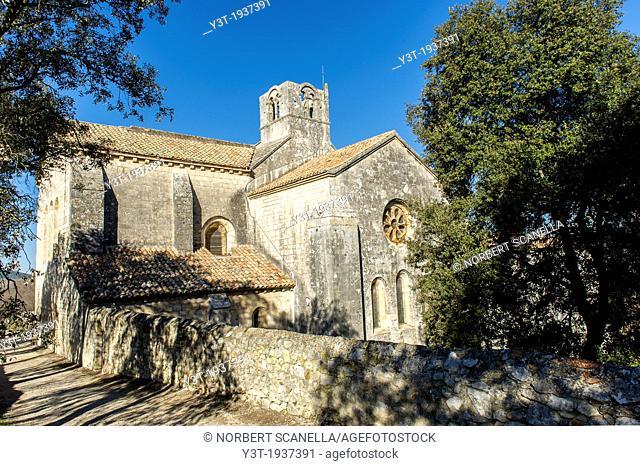 Europe, France, Bouches-du-Rhone, La Roque d'Antheron, Cistercian Abbey of Silvacane