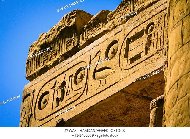 close up of Temple of Luxor, Luxor city, Egypt