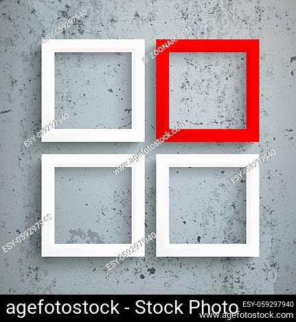 Template rectangle design on the concrete background. Eps 10 vector file