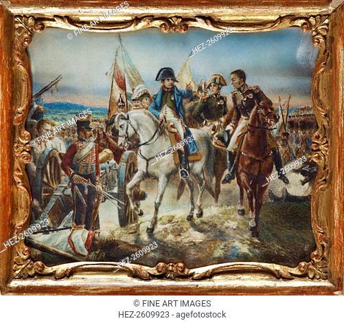 Napoleon at the Battle of Friedland. Artist: Vernet, Claude Joseph (1714-1789)