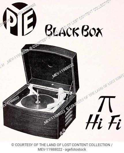 1950s, Pye, the black box, Hi-Fi, instruction book, record player