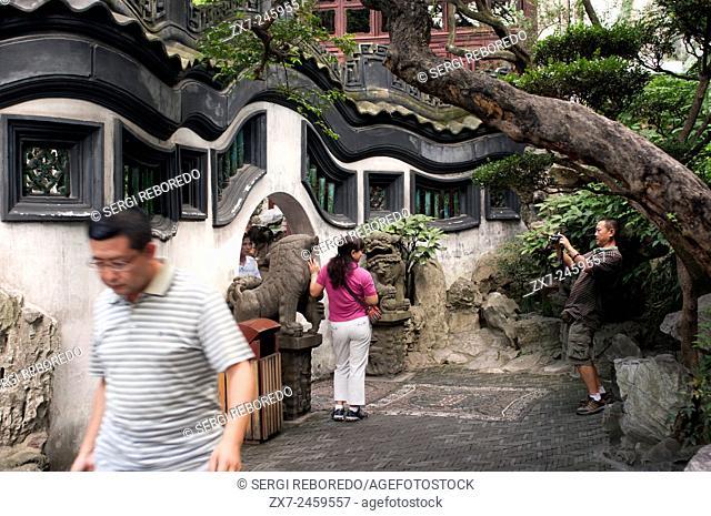Yuyuan or Yu Garden (Jade Garden) Old Town Shanghai China. Hall of Jade Magnificence in Yuyuan Garden (Garden of Happiness or Garden of Peace) in Old City of...