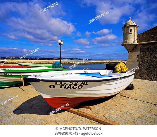 Boats on the beach, Portugal, Algarve, Lagos