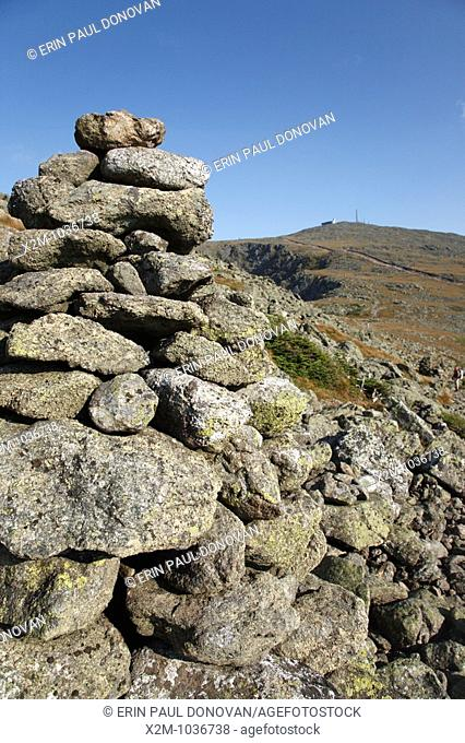 Mount Washington from the Appalachian Trail  Located in the White Mountains, New Hampshire USA
