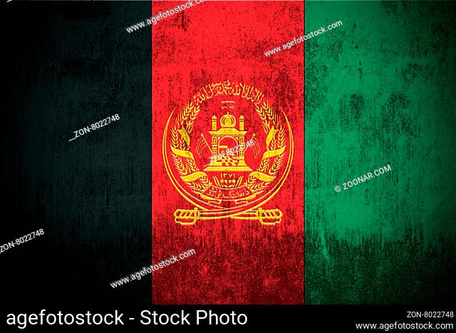 Weathered Flag Of Afghanistan, fabric textured