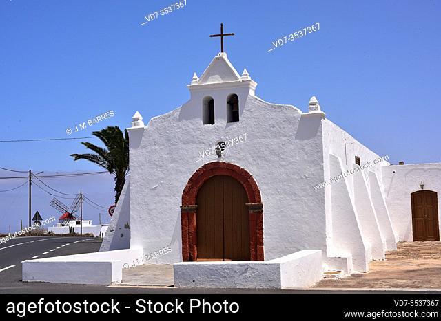 Tiagua hermitage. Teguise, Lanzarote Island, Canary Islands, Spain