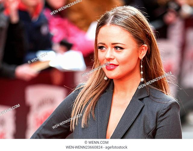 Arrivals for the Jameson Empire Awards 2016 at the Grosvenor House Hotel Featuring: Emily Atack Where: London, United Kingdom When: 20 Mar 2016 Credit: WENN