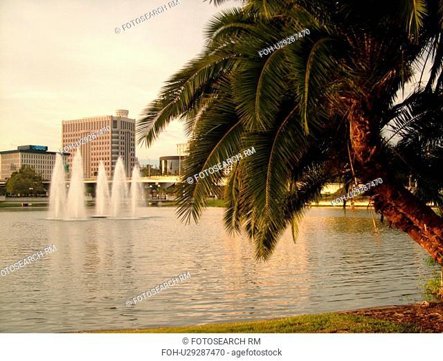 Orlando, FL, Florida, Downtown, Lake Lucerne