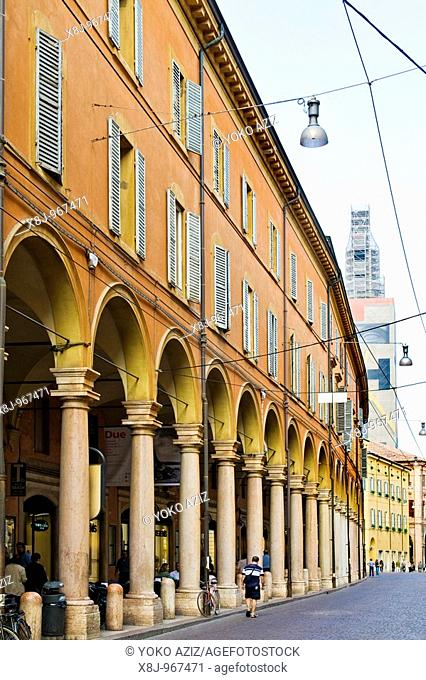 Emilia street, Via Emilia, Modena, Italy