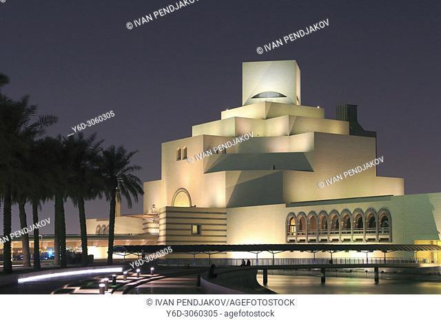 Museum of Islamic Art at Night, Doha, Qatar