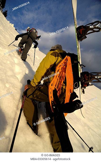 Ski tour at Hochgrat (mountain), Allgäu alps, Bavaria, Germany