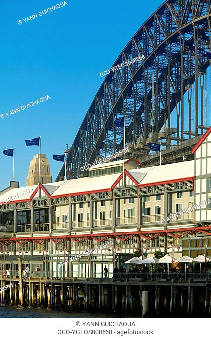WHARF THEATRE - HARBOUR BRIDGE - SYDNEY - NEW SOUTH WALES - AUSTRALIA