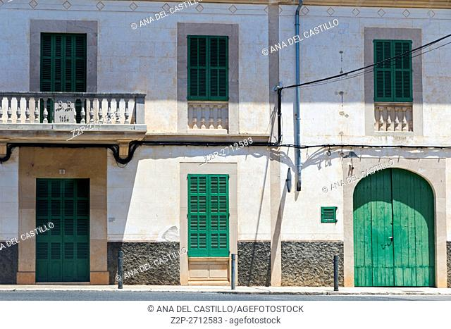Typical architecture in Majorca island Salines Balearic islands Spain