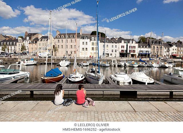 France, Morbihan, Gulf of Morbihan (Golfe du Morbihan), Vannes, yachting harbour