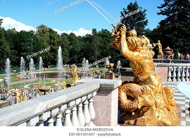 Peters Palace at Peterhof, St Petersburg, Russia